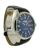 Fila FA0796.05 Highway Men's Round Automatic Blue Day Date Leather Watch