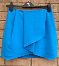 ASOS TURQUOISE BLUE A LINE TAILORED SKATER FORMAL PARTY WORK RARE SKIRT 8 S
