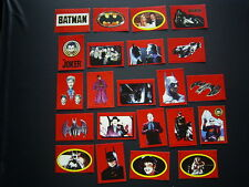 TOPPS BATMAN CARD-STICKERS PICTURES 1989 SET OF 22  SETS A-B   CARDS (e19)