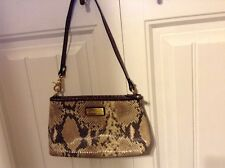 BRAHMIN ANYTIME MINI SNAKE PYTHON LEATHER BAG/WRISTLET *RARE*