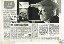 Coupure de Presse Clipping 1974 (2 pages) Marcel L'Herbier