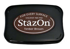 StazOn Solvent Ink Pad TIMBER BROWN SZ-41 Tsukineko Brand New! Sealed