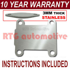 VAUXHALL OPEL VECTRA ZAFIRA SIGNUM ASTRA EGR VALVE BLANK PLATE 3MM STAINLESS NZ