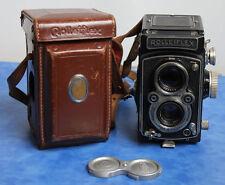 Rollei Rolleiflex 6x6 Carl Zeis Tessar 3.5 75mm Mittelformatkamera !