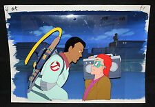 Real Ghostbusters Animation Cel w Painted Background - Winston and Teen - 254D39