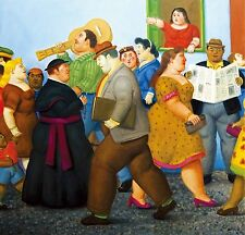 Fernando Botero The Street  78 x 90 cm  TELA QUADRI CANVAS