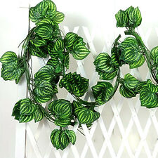 Realistic Fake Ivy Leaves Leaf Vine Green Foliage Plant For Home Garden Decor FT