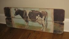 LARGE Milking COW Wall PICTURE*Primitive/French Country Farmhouse Barn Decor