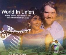 NEW CD.World In Union.Shirley Bassey,Bryn Terfel &The Black Mountain Male Choir