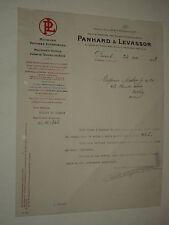 Facture Ancienne PANHARD & LEVASSOR  1928 auto    brochure prospectus catalogue