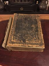 Antique Victorian  Illustrated  Holy Bible - Browns Self Interpreting Family