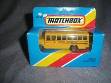 269B Vintage Matchbox 1981 MB 47 Autobus Scolaire Bus School District 2 US 1:76