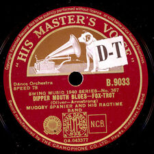 MUGGSY SPANIER & HIS RAGTIME BAND Dipper Mouth Blues/Big butter and..78rpm X1448
