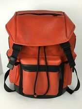 COACH F72018 Trek Pack Rucksack Backpack Men's Perforated Leather Carmine NWT