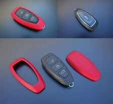 Ford Schlüssel Hülle Cover Power Key Free Keyless Go Funk Fernbedienung Rot-