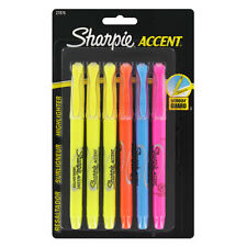 """Sharpie Accent Pocket-Style Highlighters, Chisel Tip, Assorted, 6/Pack"""