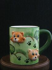 Fine Ceramic 3D Bears Mug by Mulberry Home Collection