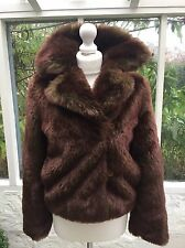 Adorable Benetton Brown Faux Fur Jacket Size Small