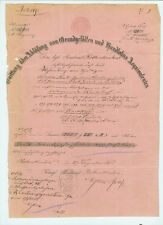 ANTIK Alte Handschrift Urkunde Quittung Rothenkirchen 1865
