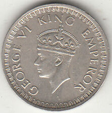 BRITISH INDIA KING GEORGE VI  1943  1/2 RUPEE SILVER COIN NR. ABOUT UNC EX.RARE