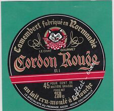 J1068 FROMAGE CAMEMBERT CHAT SAINT GEORGES DES GROSEILLERS ORNE MANCHE