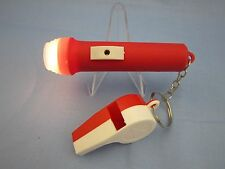 "OLD TIME VINTAGE RETRO STYLE   ""MINI FLASHLIGHT AND TOY WHISTLE""  (VERY COOL)"