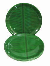 Melamine Dinner Full Plates Set of 6 -Traditional Banana Leaf Design