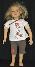 "My Twinn Madison Doll 23"" Dirty Blond Hair Reddish Eyes Tan Skin Shirt Shorts"