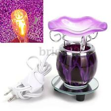 Electric Scented Oil Warmer Lamp Wax Burner Bulb Fragrance Diffuser Purple New