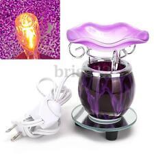 Electric Scented Oil Warmer Lamp Wax Burner Bulb Fragrance Diffuser Purple New