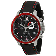 Tissot Quickster Chronograph Black Dial Black Silicone Mens Watch T0954491705701