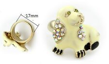 R33 Betsey Johnson Betsey Johnson Puppy Doggie Boxer Bull Terrier Dog Ring US