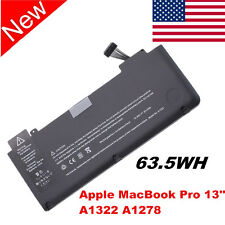 6 Cell Battery for Apple A1322 A1278 (Mid 2009 2010 ) Unibody MacBook Pro 13''