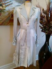 Save the Queen made in Italy long trench coat jacket size L