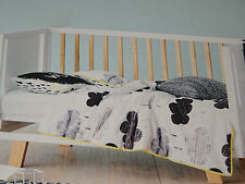 ADAIRS KIDS Storm Clouds black white COT/JUNIOR BED QUILT COVER SET BNP grey