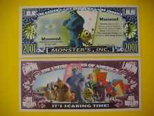 MONSTERS, INC Animated 2001 Comedy Movie  ~*~ Fun $1,000,000 One Million Dollars