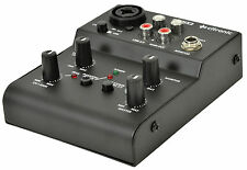 Citronic Q-MIX2 USB 2 CHANNEL COMPACT MIXER SOUND AUDIO STUDIO RECORDING