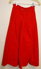 """Chaus vintage full red denim skirt,24"""" length Zip up front with 2 large pockets"""