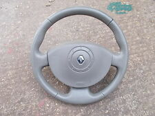 MEGANE, GRAND SCENIC AND SCENIC BROWN LEATHER STEERING WHEEL, AIR BAG AND HORN