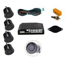 BLACK 4 Point POSTERIORE SENSORE DI PARCHEGGIO KIT CON SPEAKER / Cicalino-MERCEDES CLASSE E
