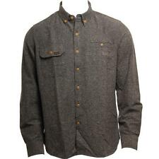 Volcom The Marls Mens Long Sleeve Button Gray Tweed Look Classic Collared Shirt