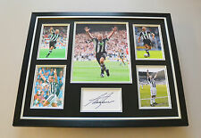 Alan Shearer Signed Photo Large Framed Autograph Display Newcastle Memorabilia