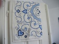 small TABLECLOTH Portuguese HEARTS and FLOWERS weddings VALENTINES ships FREE