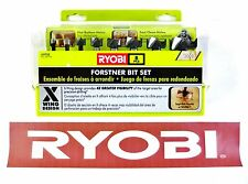BRAND NEW RYOBI 8 PIECE X WING DESIGN WOOD FORSTNER BIT SET A9FS8