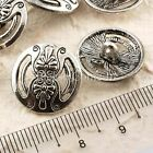 25 Tibetan Silver Button Bead for Leather Jewelry