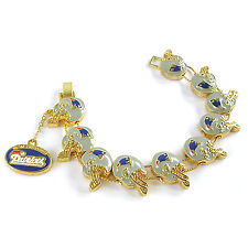 NFL Football New England Patriots Fashionable Gold Charm Bracelet