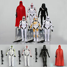 6pz Star Wars Clone Wars Troopers Shadow Stormtrooper Action Figure Collezione