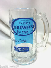 Novelty beer glass bar glasses 1 Brewfest Lovers Timber Lodge Capone's mug DI6