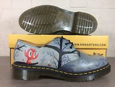 Men's Dr Martens Base Man Grey UK Size 9 Art Limited Edition Shoes