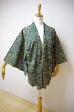 Kimono Dress Japan Vintage haori coat robe Geisha costume used silk KDJM-H0051